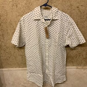 NWT! Wood paper button down shirt (lrg)